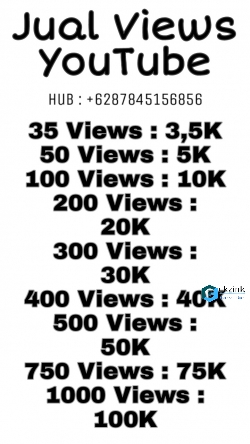 Jual Views YouTube Murah!